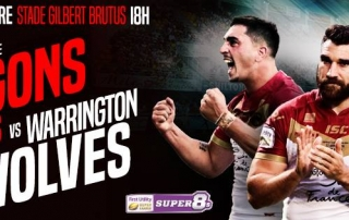Dragons Catalans vs Warrington Wolves​ places à gagner 2